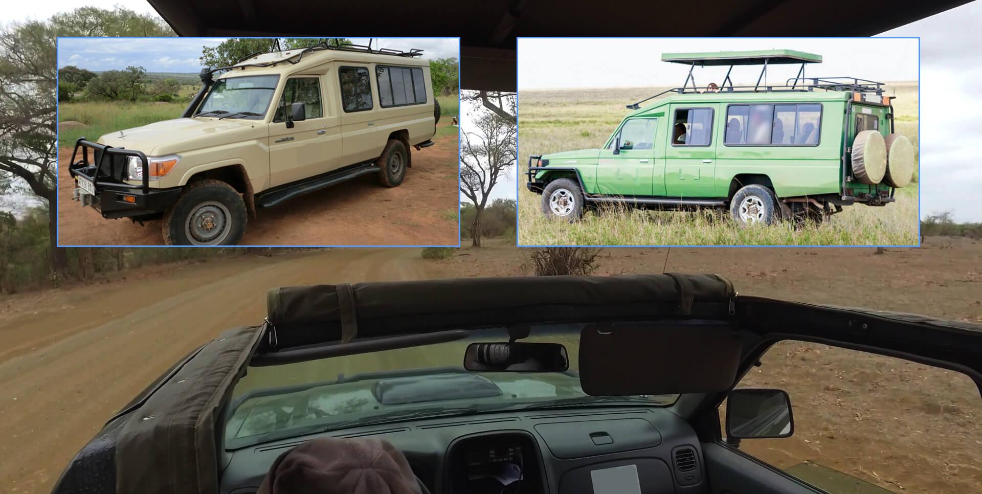 Safari car rental, 4x4 car rental